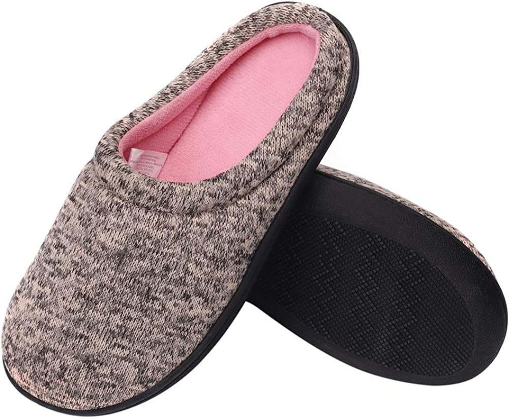 Beatific Bee Womens Mens House Slippers Knit Two-Tone Bedroom Cozy Antiskid Shoes Winter Slippers for Indoor//Outdoor