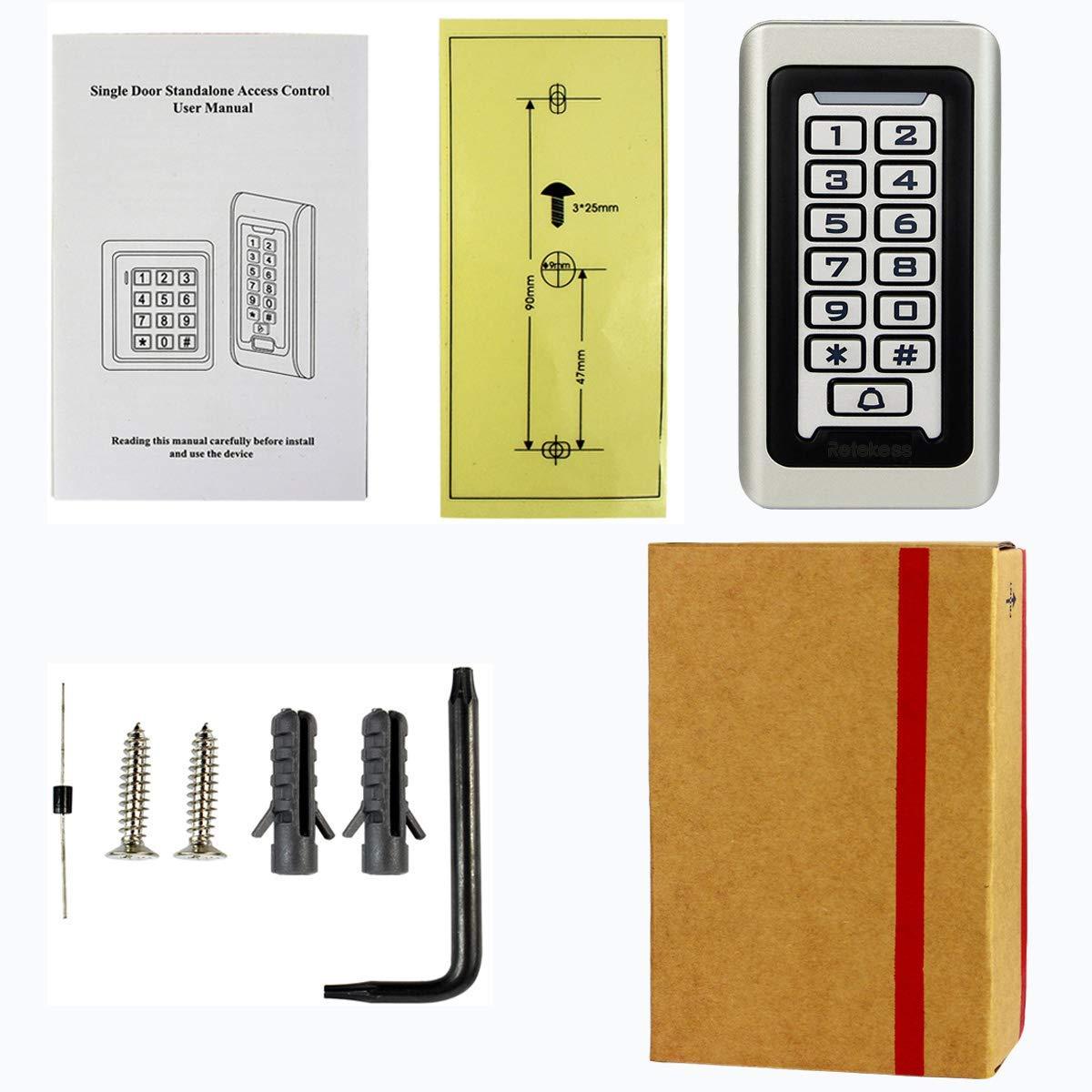 TIVDIO Access Control Keypad Door Keypad Outdoor Waterproof
