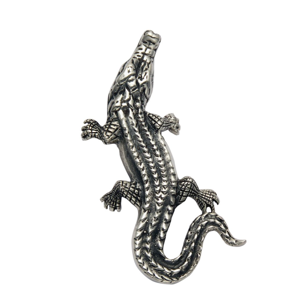 Sterling Silver Alligator Pin by Wild Things