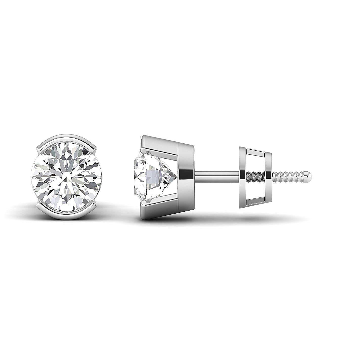 Stud Earrings for Women perfect Jewelry Gifts for Women Teen Girls Earring Studs 0.3 to 4 Carat Moissanite Stud Earrings 18K white-gold GH//VVS Round Brilliant