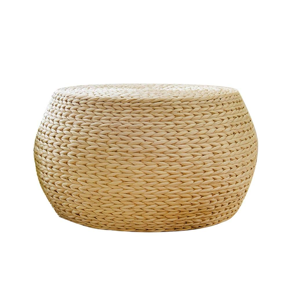 TODAYTOP Natural Woven Weave Grass Futon Floor Cushion for Meditation Rest Decors