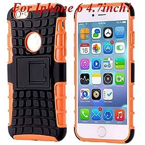 I6/6 Plus Heavy Duty Armor Case For Iphone 6 4.7Inch/5.5Inch Plus Hybrid Hard Pc+Soft Tpu Back Cover Kickstand Shock-Proof Case I6 Orange-I6 orange