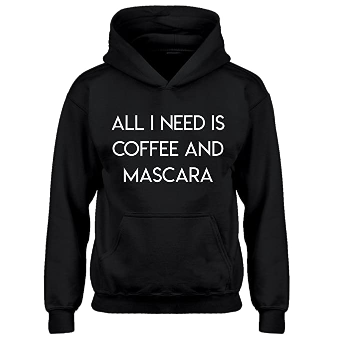 735d17710acb Indica Plateau Kids Hoodie All I Need is Coffee and Mascara X-Small Black  Hoodie