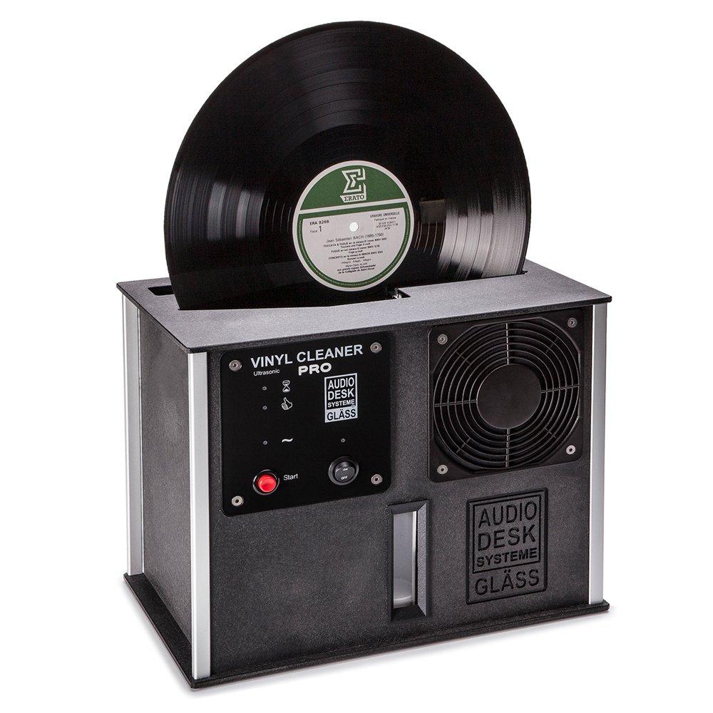 Audio Desk Systeme Premium Ultrasonic Vinyl Cleaner PRO, Black