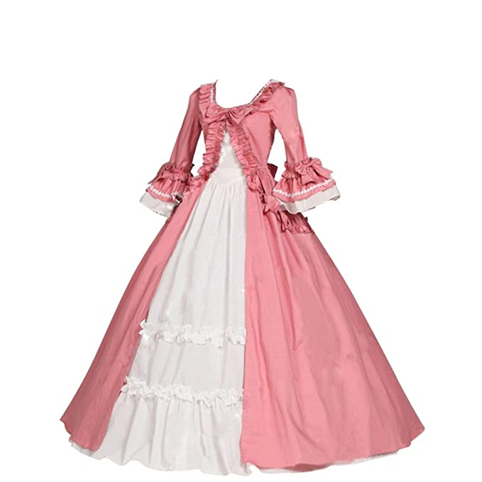 Amazon.com: 1791s Vestido de mujer Victoriano Rosa Gótico ...