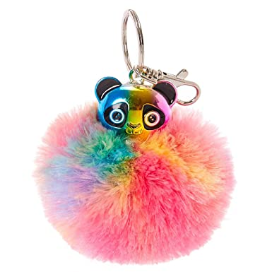 Claire s Girl s Rainbow-tastic Panda Pom-Pom Keyring.  Claire s   Amazon.co.uk  Clothing 7598bb5dc