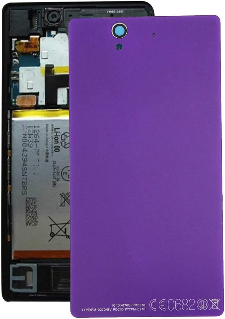 L36h Leya Smartphone Repair Parts Aluminium Battery Back Cover for Sony Xperia Z Color : Purple Black