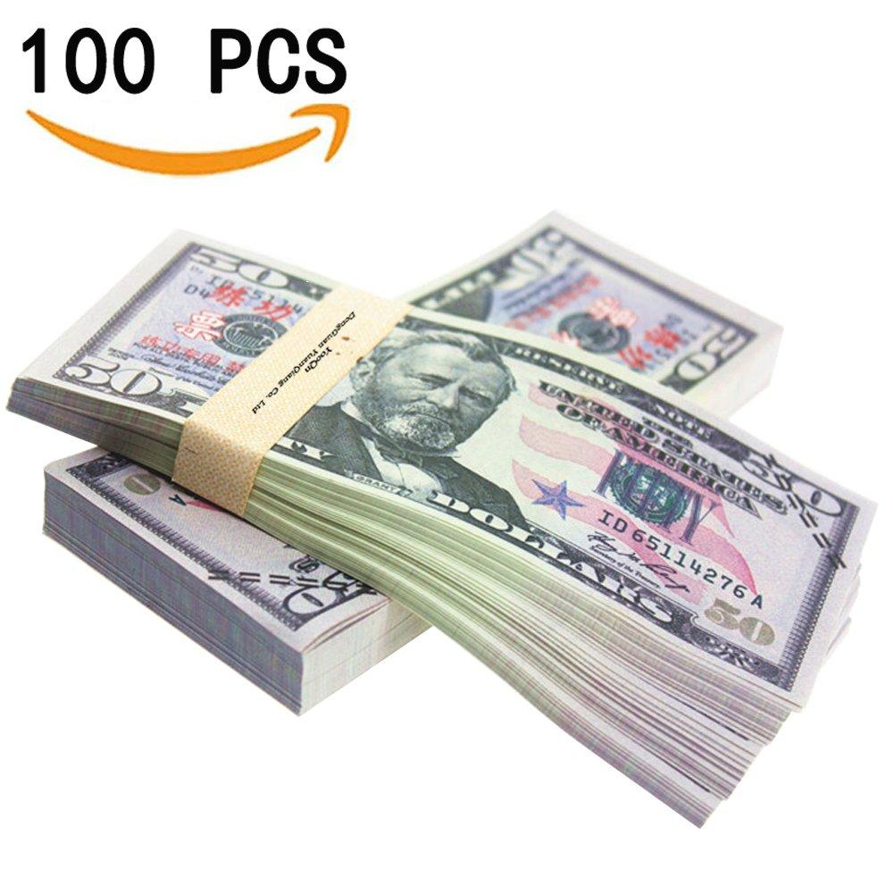 Amazon.com: YooQn Play Money $5,000 Full Print New Style Money Copy ...
