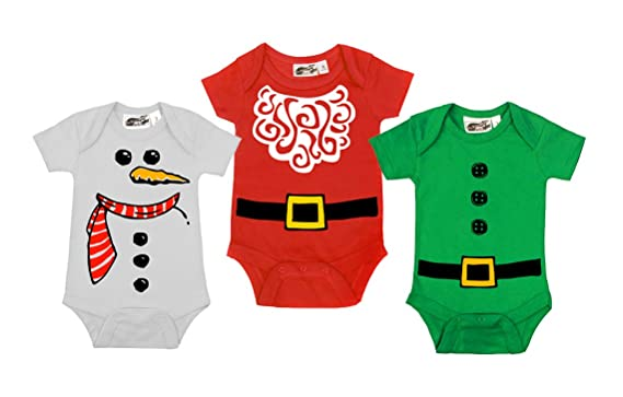 9ab43fcfa Amazon.com  My Baby Rocks Christmas 3 Piece Holiday Gift Set  Santa ...