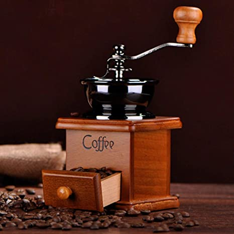 Amazon.com: Hot Sale Cafetera Coffee Mill Wooden And Metal ...