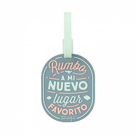 c86565a0a Etiqueta para equipaje Mr. Wonderful- Rumbo a mi nuevo lugar favorito