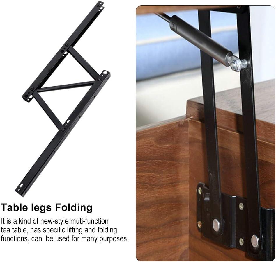 Mat/ériel de table pliante en fer Accessoires de maison de support de levage Noir 2Pcs Soulevez le cadre de levage de la table basse M/écanisme de levage de table