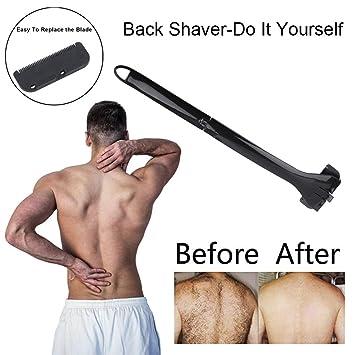 Elektrischer selbst Rücken Rasierer Faltbarer Körper Haar Schneider Kit