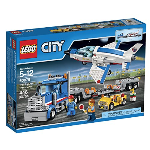 LEGO City Space Port 60079 Training Jet Transporter Building Kit (New Supersonic Passenger Jet Set For Takeoff)