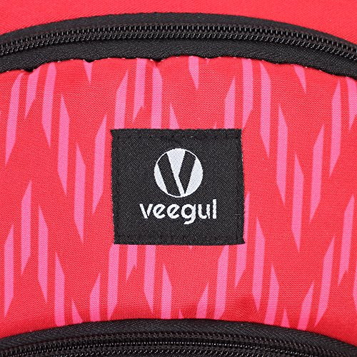 Veegul Cool Backpack Kids Sturdy Schoolbags Back to School Backpack for Boys Girls,Red by Veegul (Image #7)