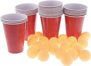 B Baosity 24 PCS Ping Pong Gioco Pong Birra + 24 Pezzi di Palline Perfetto per Feste e Giochi Natalizi