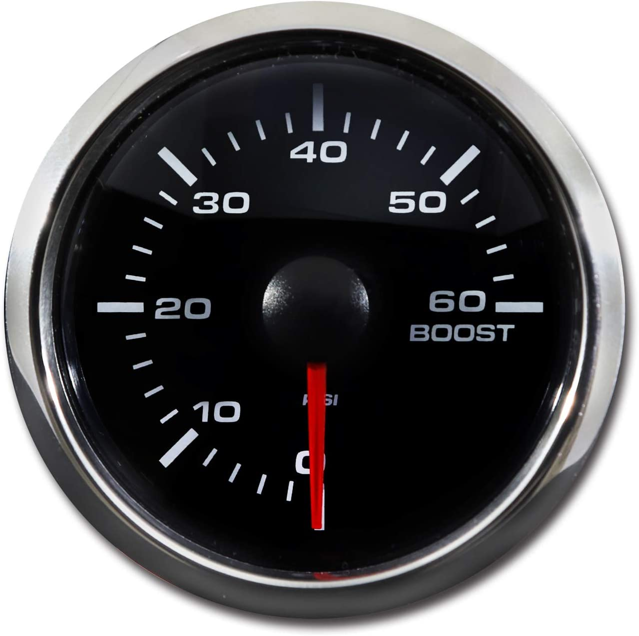 White LED Digital 60 PSI Boost Gauge Kit Includes Electronic Pressure Sensor Waterproof Pin-Style install