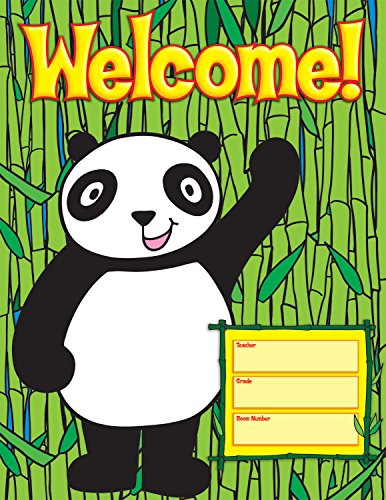 Scholastic TF2457 Panda Welcome Chart