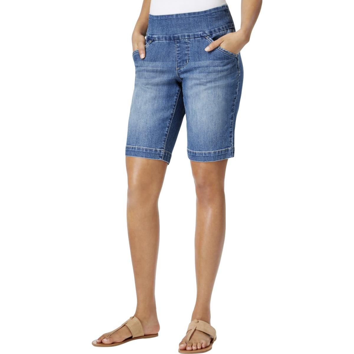 Jag Jeans Women's Ainsley Pull on Bermuda Short, Weathered Blue, 6
