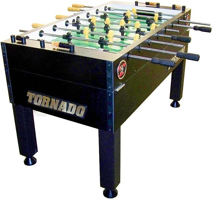 Tornado T-3000 futbolín Mesa con 1-Man Portero, Negro: Amazon.es: Deportes y aire libre