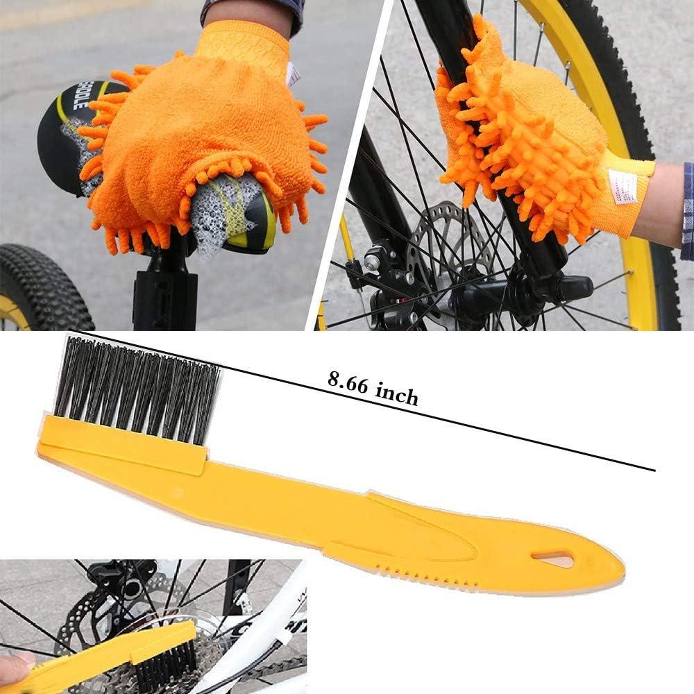 8 Pcs kris Fahrrad Reinigungsset,Bike Cleaning Tool Set,Fahrrad Reinigungsset B/ürste,Reinigungsb/ürste Fahrrad Set,Fahrrad Reinigungsb/ürste,Fahrrad Reinigung Set