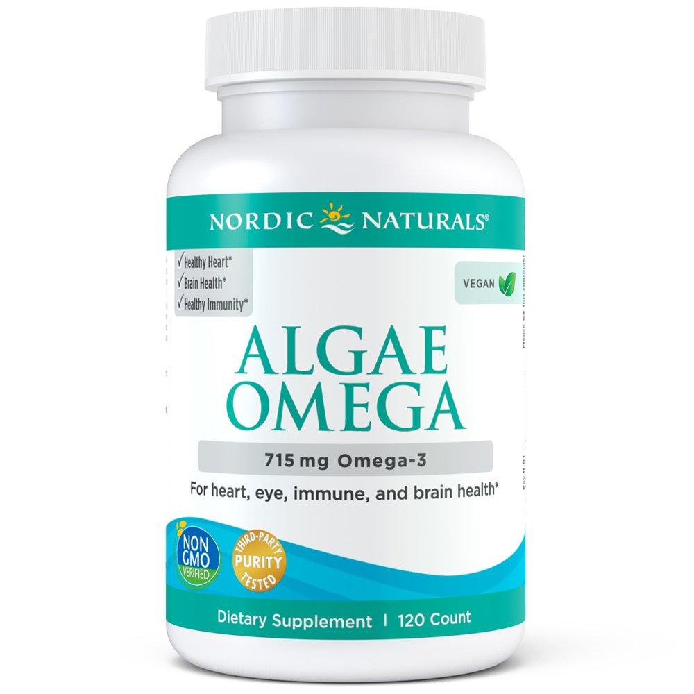 Nordic Naturals Algae Omega - Vegetarian Omega-3 Supplement for Eye Health, Heart Health, and Optimal Wellness, 120 Soft Gels