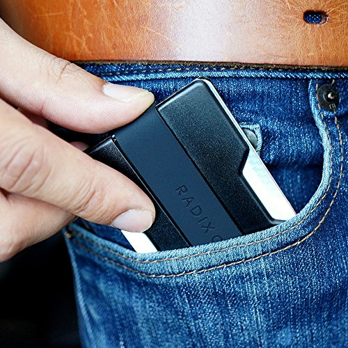 Radix One Slim Wallet (Black/Black) - Minimalist Ultralight Thin Polycarbonate Money Clip