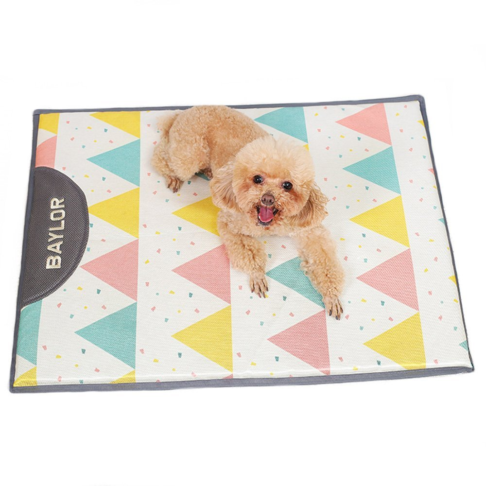 L 8058cm Pet Bed Dog Cooling Mat, Pet Ice Silk Pad for Summer Sleeping Bad Kennel Crate,Keep Pets Cool for Small and Medium Dogs (Size   L 80  58cm)