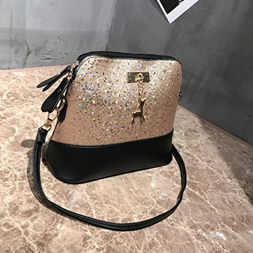 Bags Messenger Casual Model Packet Fashion Glitter Ladies Women Sixcup Handbag Gold Casual Shoulder Crossbody PU Leather Shell nBSx1q8