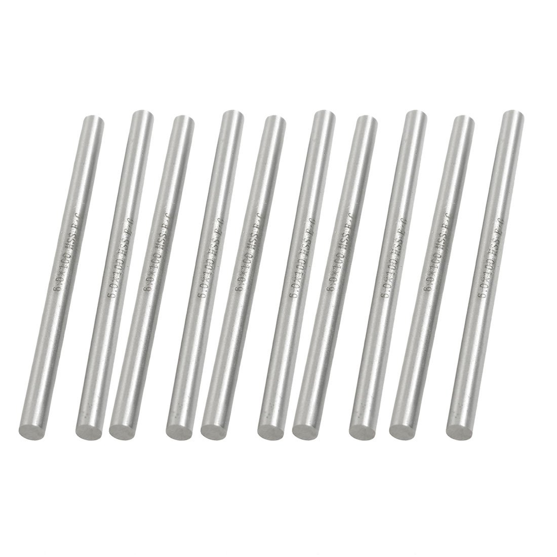Uxcell a12102200ux0603 High Speed Steel Lathe Round Bar Milling Cutter 6mm x 100mm (Pack of 10)
