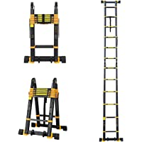 Todeco 16.5 FT Telescopic Ladder Multi-Position A-Frame Folding Extension Ladder, Lightweight Aluminum Telescoping…