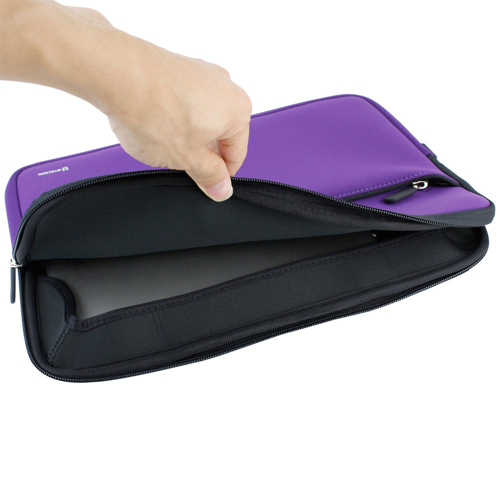 Evecase HP Stream 11 UltraPortable Handle Carrying Portfolio Neoprene Sleeve Case Bag for HP Stream 11 11-d010nr Notebook 11.6 inch Laptop - Purple by Evecase (Image #5)
