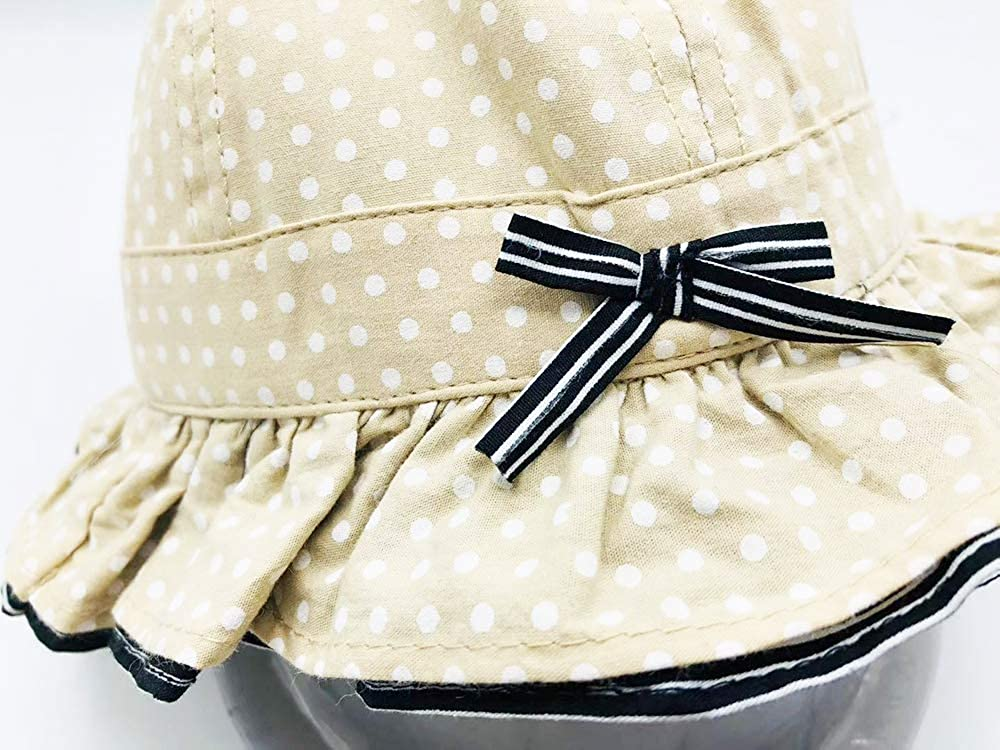 LHTHZHY Baby Girl Sun Hat Outdoor Adjustable Beach Hat with Wide Brim Bucket Hat Toddler