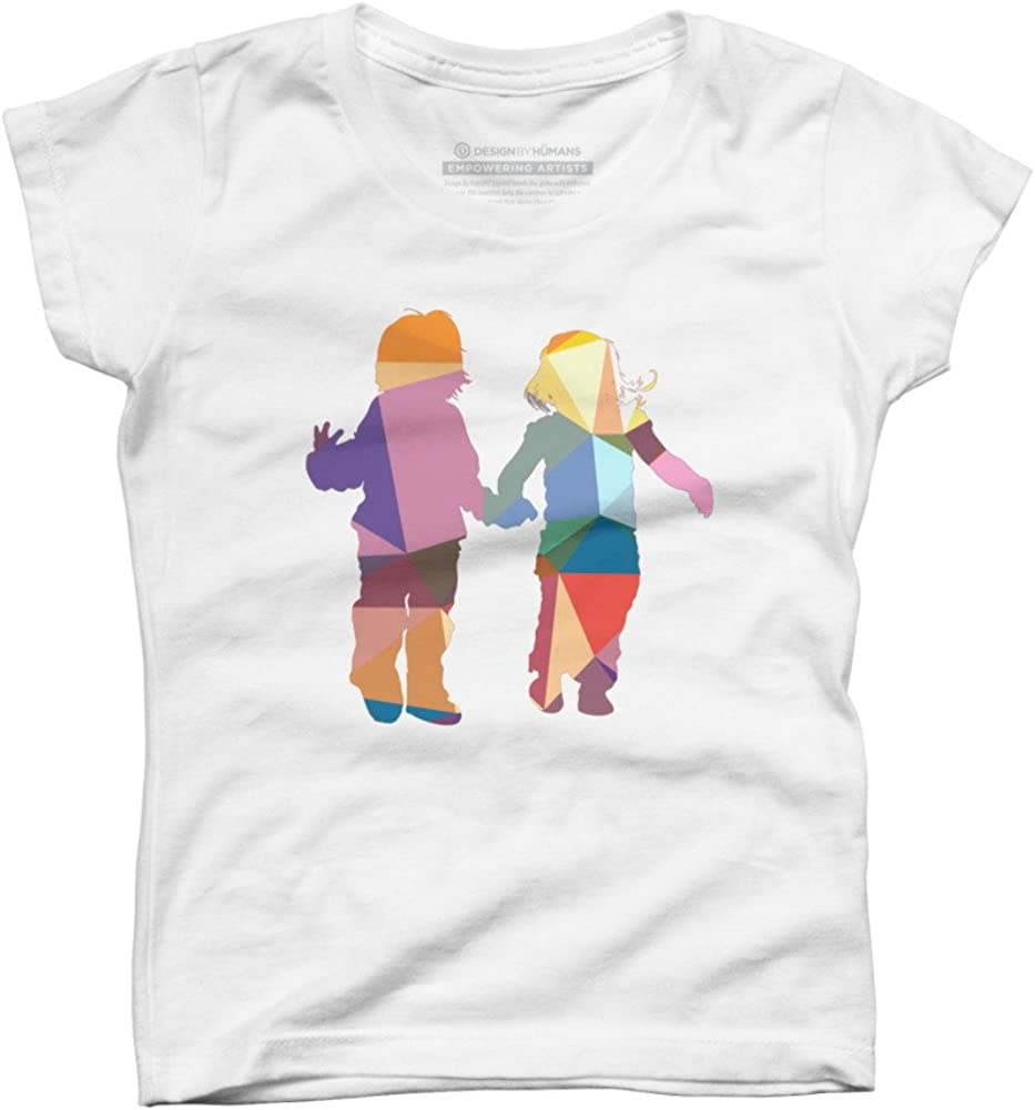 Design By Humans Girls Youth Graphic T Shirt Kids Paint Life with Colors