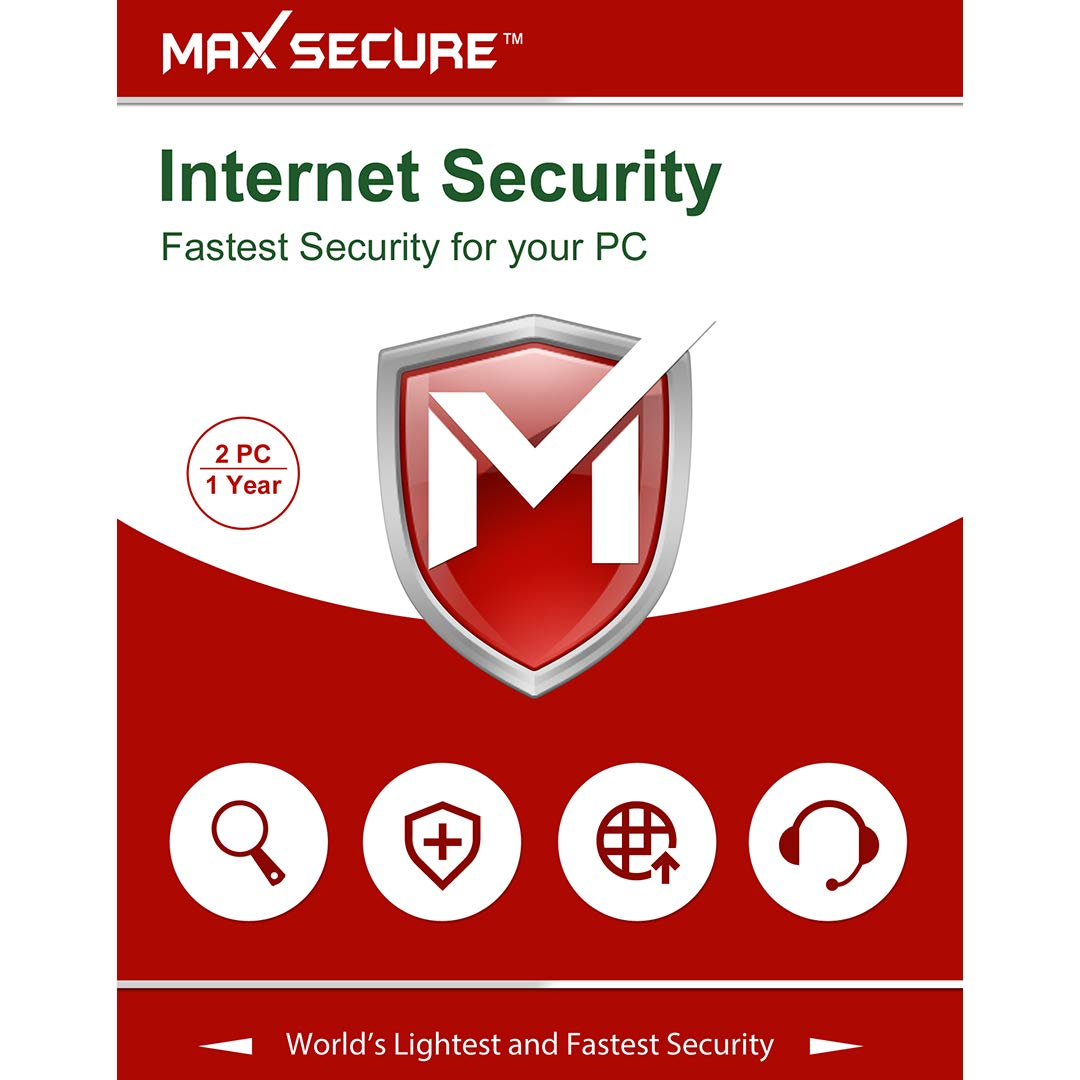 Max Secure Software Internet Security Version 6 - 2 PCs, 1 Year (Email Delivery in 2 Hours - No CD)