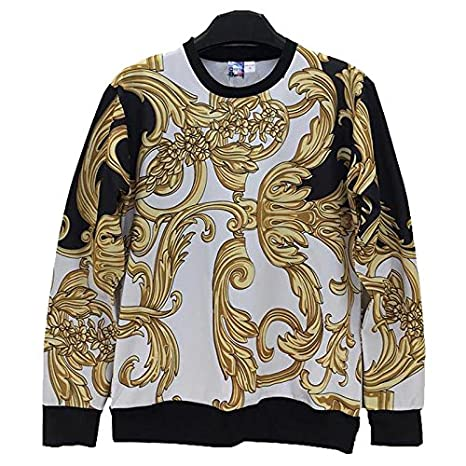 TOPDCLSN Fashion Men/Women Sweatshirt 3D Funny Print Golden Flowers Striped Sudaderas Casual Hoodies Hoody