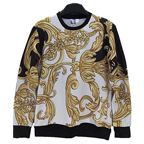Amazon.com : TOPDCLSN Fashion Men/Women Sweatshirt 3D Funny Print Golden Flowers Striped Sudaderas Casual Hoodies Hoody Tops W224 : Sports & Outdoors