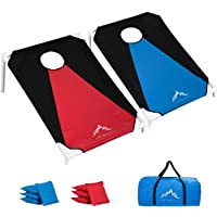 Himal Portable PVC Framed Cornhole Game Set with 8 Bean Bags and Carrying Bag (Blue-Red,3 x 2-feet), Blue-Red