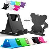 Dot9Ti9 Universal Adjustable 4 Steps and 5 Steps Fold-able Mobile Stand Holder for All Phone Tablet Desk (Assorted Color, Pack of 2)