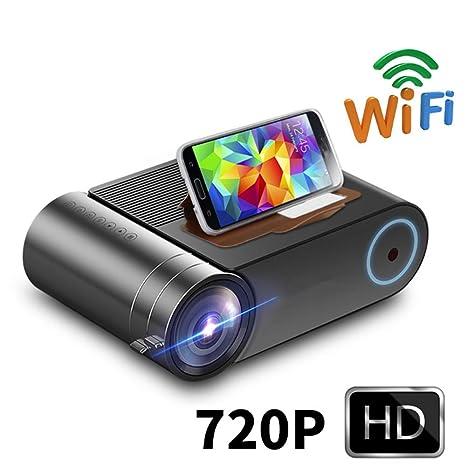 DiaoZhaTian Proyector HD portátil, Mini proyector inalámbrico de ...
