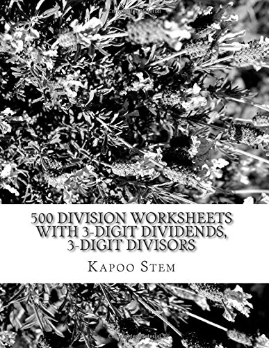 Amazon.com: 500 Division Worksheets with 3-Digit Dividends, 3 ...