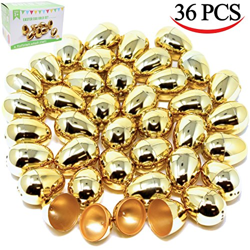 36-Pieces-Shiny-Golden-Metallic-Easter-Eggs-2-38-in-Gold-Color-for-Filling-Specific-Treats-Easter-Theme-Party-Favor-Easter-Hunt-Basket-Stuffers-Fillers-Classroom-Prize-Supplies-by-Joyin-Toy