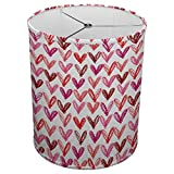 Hardback Linen Drum Cylinder Lamp Shade 8'' x 8'' x 8'' Spider Construction [ Heart Drawing Child ]