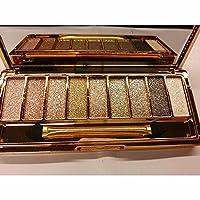 OEM 9 Colors Glitter Eyeshadow Eye Shadow Palette Diamond Bright Colorful Makeup Cosmetic Brush Set (6)