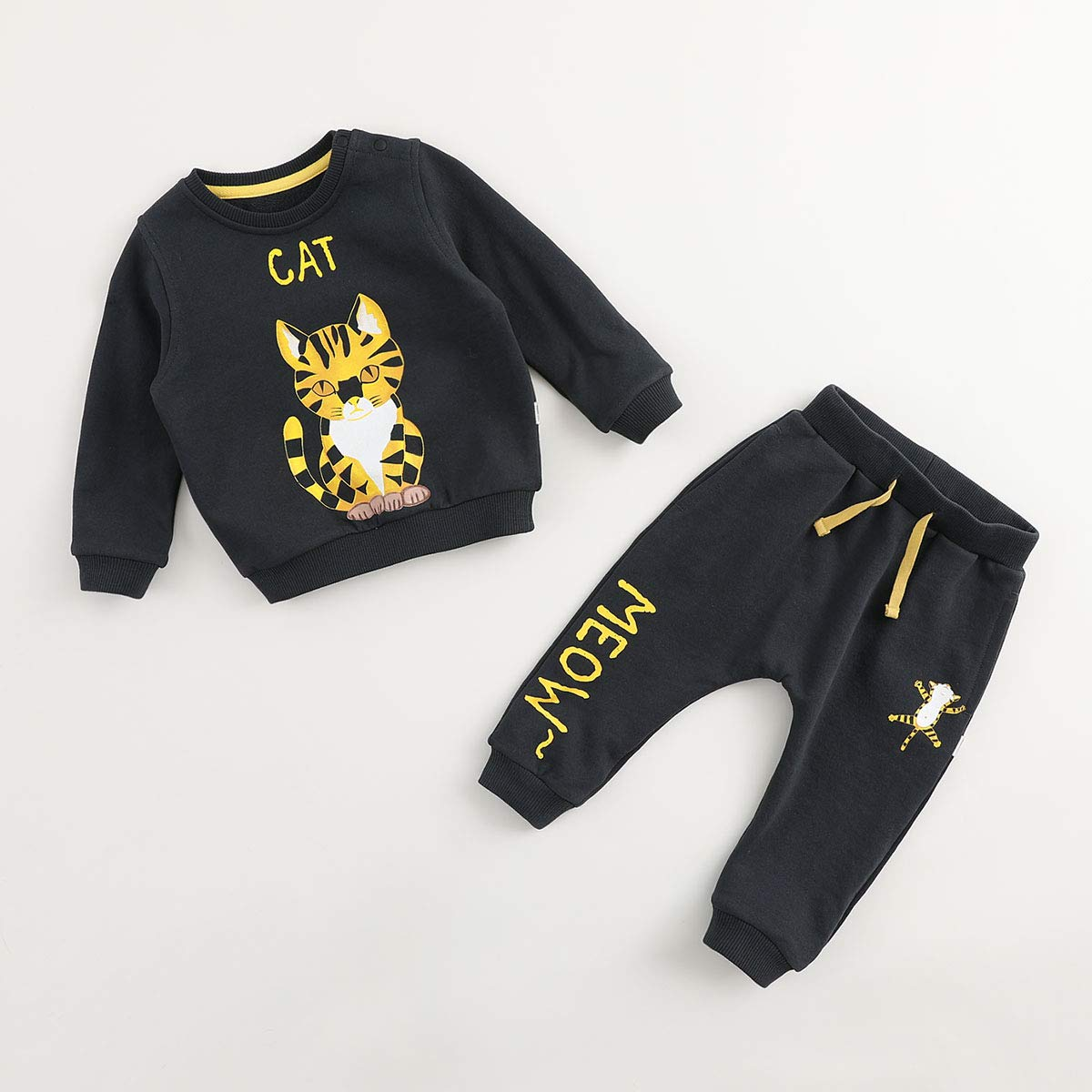 marc janie Girls Boys 2 Pieces Aninals Graphic Sweatshirts Jogger Set