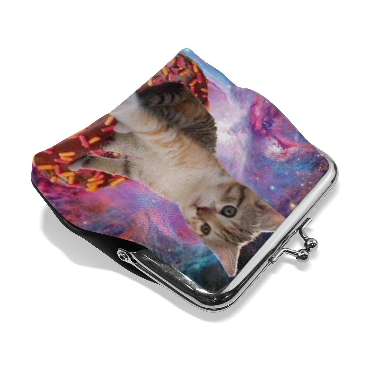 Cats Do Fly Donuts Cute Buckle Coin Purses Buckle Buckle Change Purse Wallets