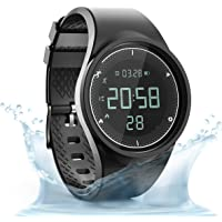 synwee Sports Fitness Tracker Digital Watch,IP68 Waterproof,Non Bluetooth, with Pedometer/Vibration Alarm Clock/Timer…