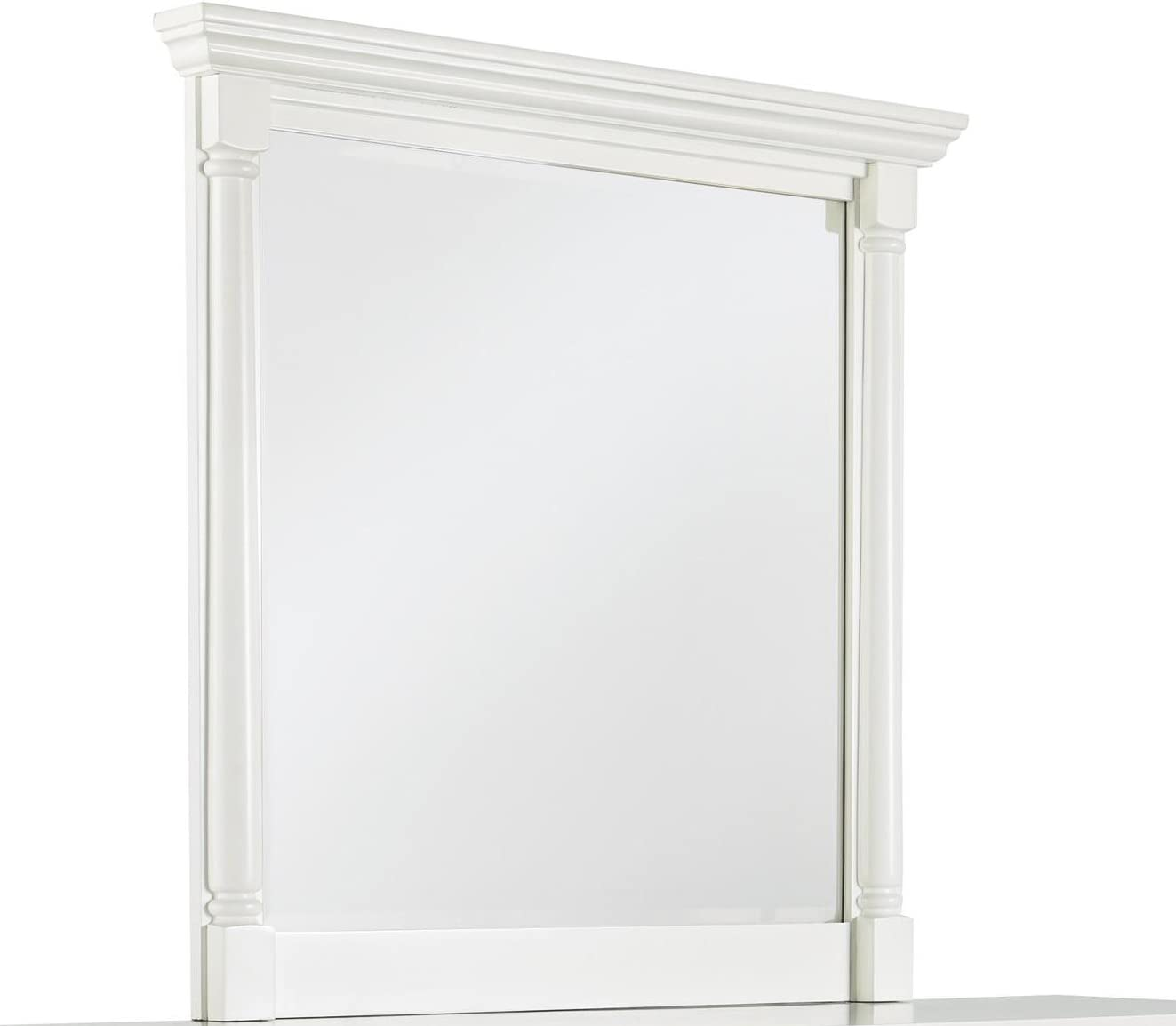 Ashley Furniture Signature Design - Kaslyn Bedroom Mirror - Youth Casual - Component Piece - Country Cottage Style - White