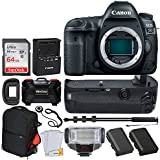 Canon EOS 5D Mark IV DSLR Camera (Body Only) + 64GB Memory Card + TTL Flash + Battery Grip + Vivitar Trolley Backpack Case + Monopod + LP-E6 Battery Replacement + Vivitar Holder - Top Accessory Bundle