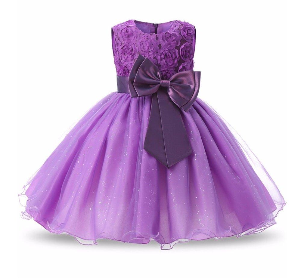 Vestido de niña de las flores de la princesa Vestidos de fiesta de cumpleaños de la boda de verano para niñas Disfraz de adolescente de los trajes de los ...